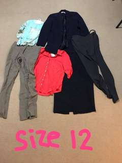 SIZE 12 WOMENS CLOTHING BUNDLE