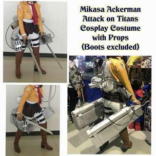 NEGO MIKASA COSPLAY COSTUME (ATTACK ON TITAN - SHINGEKI NO KYOJIN)