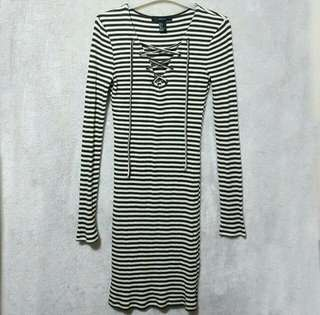 FOREVER 21 RIBBED DRESS