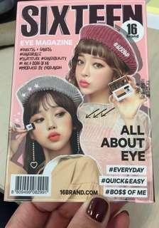 🛍清貨 現貨 全新 韓國 16brand 迷你雜誌炫彩雙色眼影盤 2.5g 懶人眼影