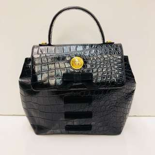 Vintage Versace Leather Handbag