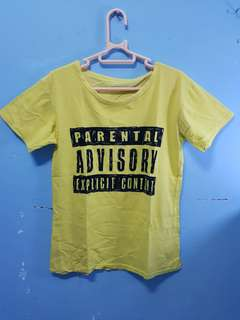 Parental Advisory Explicit Content Yellow Tee
