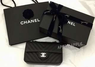 Chanel mini coco 20cm V紋牛皮