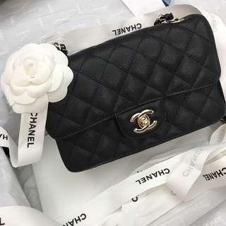 Chanel Mini coco 20cm 淡金色
