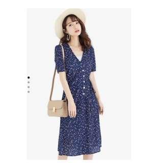Printed Fit & Flare Midi Dress *REPRICE*