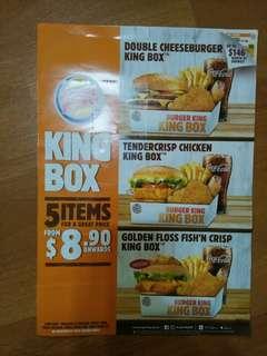 Burger King Food coupons