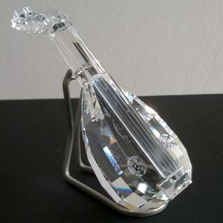 68 Swarovski Crystal - Lute With Stand