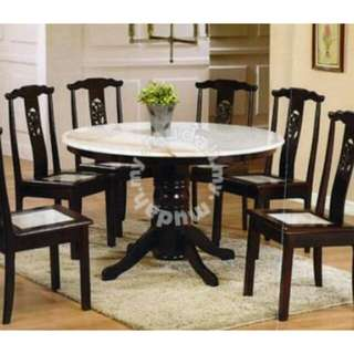 dining set with marble top