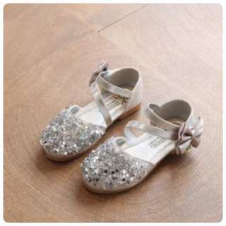 Shoes princess glitter silver