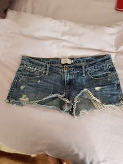 Abercrombie & Fitch low rise denim shorts