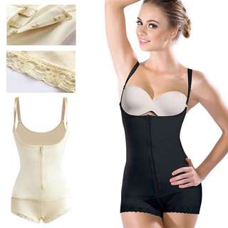 Hot Shaper Latex Clip&Zip Shapewear Waist Tranner Slimming Shaper Butt Lifter Body Shaper Open Crotch Underwear
