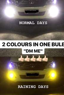 DUAL COLOUR H11 LED BULB 3000k/6000k