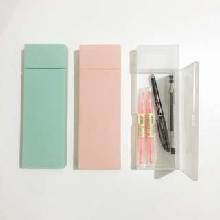 Clear Pencil Case (Available in Peach, Mint Green, Clear)