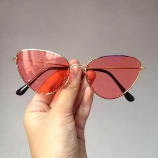 Retro sunglass (pink tua )