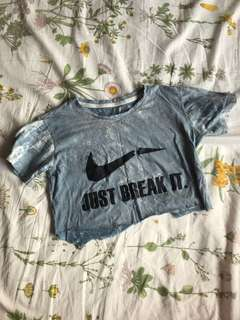 Nike Inspired Just Break It Tie Dye Crop
