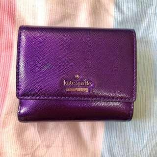Kate Spade 閃紫短銀包 Sparkling Purple Small Wallet