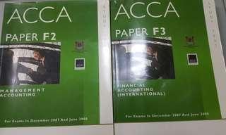ACCA paper F2 & F3