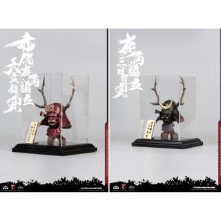 PO: Coo Model - 1/6 Scale Red Buckhorn Six-Coin Kabuto, Black Buckhorn Moon Kabuto (Helmet Edition)