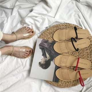 [PO] Transparent Strappy Sandals