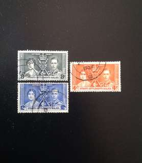 Malaya 1937 Coronation 3V Used (0464)