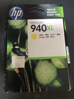 HP printer officejet 940XL color yellow