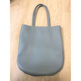 Miniso 2 colour bag (blue and grey)