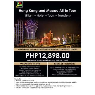 Hong Kong and Macau All-In Tour