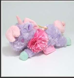 Sanrio Japan ♡ Little Twin Stars Floral Unicorn ♡ Mascot purple