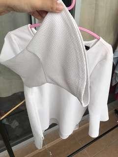 Nichii white blouse