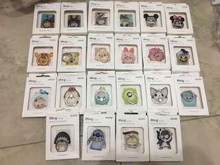 清貨-卡通人物手機支架~$20/4個
