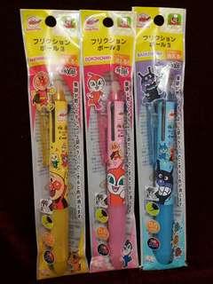麵包超人 / 紅精靈 / 細菌小子 Frixion 日本製三色擦得甩原子筆