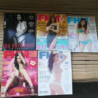 FHM magazine 5 pcs