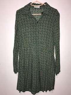 Printed Green Blouse (Preloved)