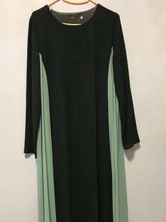 Grey & Mint Long Dress (Preloved)