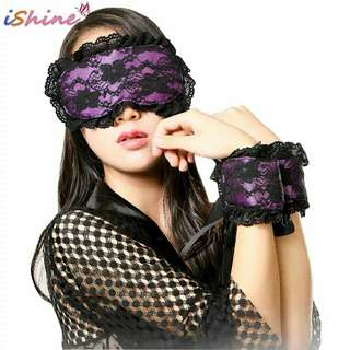 Sexy Erotic Toys Lace Mask Blindfolded Patch+Sex Handcuffs Fetish Adult Flirt  Women Lingerie Products for Couples