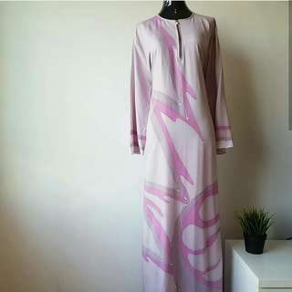 Handprinted Batik Nursing Dress