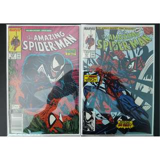 Amazing Spider-Man #316,#317 (1989, 1st Series) Set of 2, Todd McFarlane's Awesomeness! Vs VENOM!RARE Must-Have Key-Books,ICONIC!!