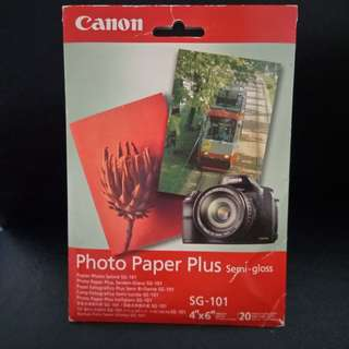 CANNON Photo Paper Plus Semi-gloss (SG-101). Brand new, never used