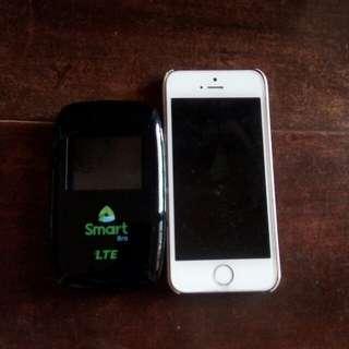 IPHONE 5s w/ POCKET WIFI