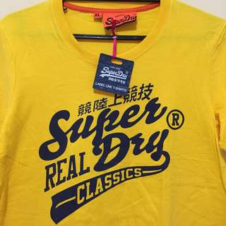 NEW Yellow Superdry Shirt