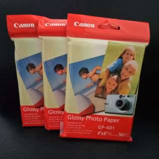 CANNON Glossy Photo Paper (GP-401). Brand new, never used