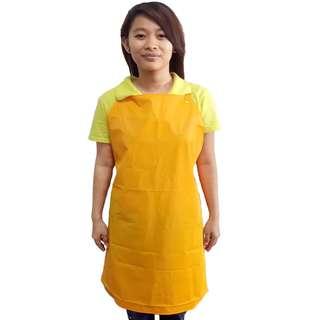 PVC apron orange color