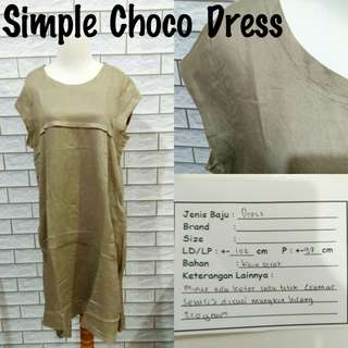 Simple Choco Dress | Pakaian Wanita | Terusan Import