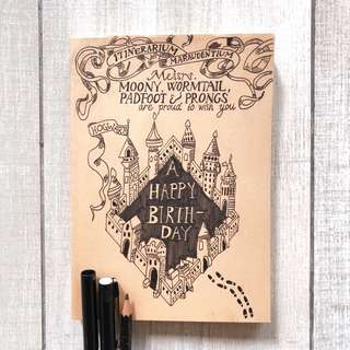 Harry Potter Notebook (Self-Drawn)