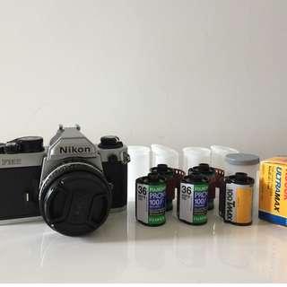 Nikon FM2+50mm f1.8 Serie E老鏡(連菲林)全套
