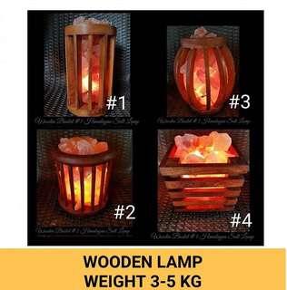 Authentic Himalayan Salt Lamp / Wooden Salt Lamp