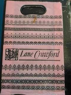 包郵 1980年左右 舊款 連卡佛 細膠袋 手抽袋 LANE CRAWFORD