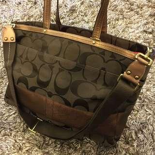 Coach oversize tote bag/ diaper bag