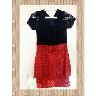Black/Red Party Dress