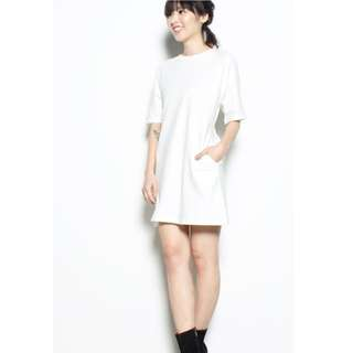 Younghungryfree Casually Yours Dress (White)